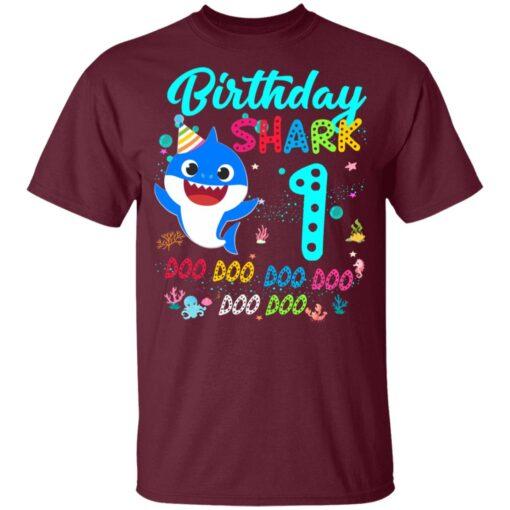 Baby Shark 1st Birthday Shirt Girl Boy 1 Year Old Birthday T-Shirt 9 of Sapelle