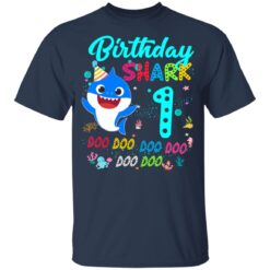 Baby Shark 1st Birthday Shirt Girl Boy 1 Year Old Birthday T-Shirt 35 of Sapelle