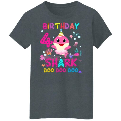 Baby Shark 4th Birthday Shirt 4 Year Old Birthday Girl Gifts T-Shirt 14 of Sapelle