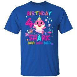 Baby Shark 4th Birthday Shirt 4 Year Old Birthday Girl Gifts T-Shirt 27 of Sapelle