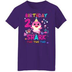 Baby Shark 2nd Birthday Shirt 2 Year Old Birthday Girl Gifts T-Shirt 49 of Sapelle