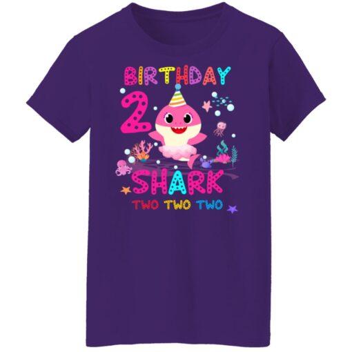 Baby Shark 2nd Birthday Shirt 2 Year Old Birthday Girl Gifts T-Shirt 17 of Sapelle