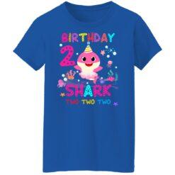 Baby Shark 2nd Birthday Shirt 2 Year Old Birthday Girl Gifts T-Shirt 51 of Sapelle