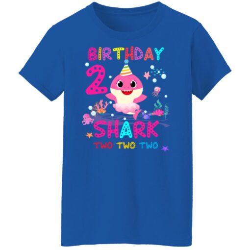 Baby Shark 2nd Birthday Shirt 2 Year Old Birthday Girl Gifts T-Shirt 18 of Sapelle