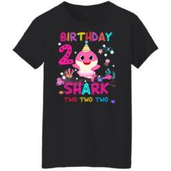 Baby Shark 2nd Birthday Shirt 2 Year Old Birthday Girl Gifts T-Shirt 41 of Sapelle