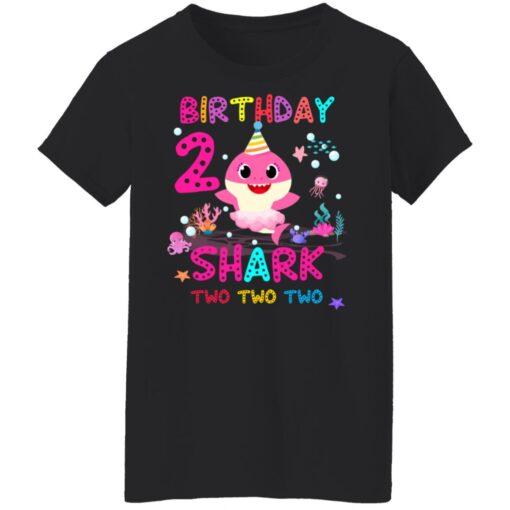 Baby Shark 2nd Birthday Shirt 2 Year Old Birthday Girl Gifts T-Shirt 13 of Sapelle