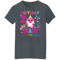 Baby Shark 2nd Birthday Shirt 2 Year Old Birthday Girl Gifts T-Shirt 43 of Sapelle