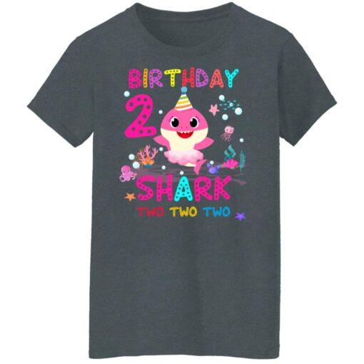 Baby Shark 2nd Birthday Shirt 2 Year Old Birthday Girl Gifts T-Shirt 14 of Sapelle