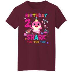 Baby Shark 2nd Birthday Shirt 2 Year Old Birthday Girl Gifts T-Shirt 45 of Sapelle
