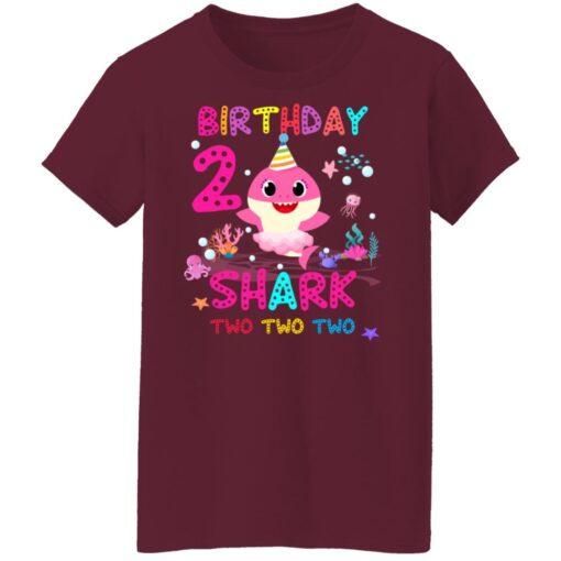 Baby Shark 2nd Birthday Shirt 2 Year Old Birthday Girl Gifts T-Shirt 15 of Sapelle