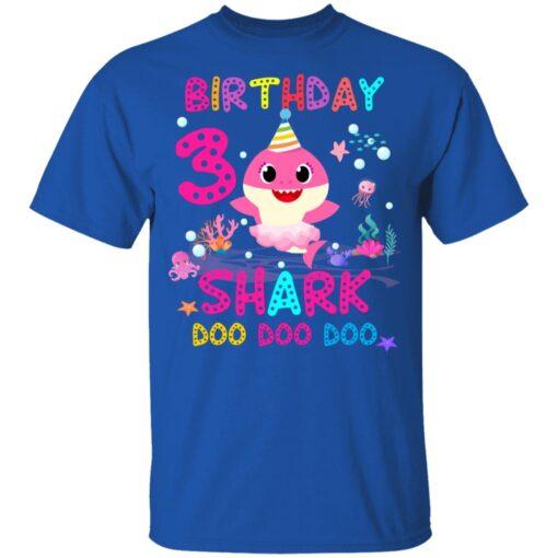 Baby Shark 3rd Birthday Shirt 3 Year Old Birthday Girl Gifts T-Shirt 12 of Sapelle