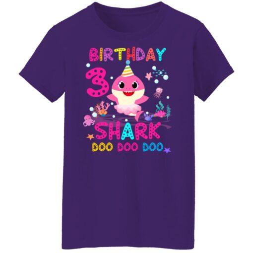 Baby Shark 3rd Birthday Shirt 3 Year Old Birthday Girl Gifts T-Shirt 17 of Sapelle